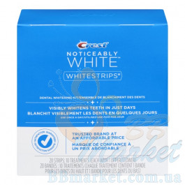 Отбеливающие полоски Crest Noticeably White Whitestrips Dental Whitening Kit (20 штук)