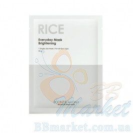 Выравнивающая тон  ежедневная маска для лица BOOMDEAHDAH Everyday Mask Rice 25g