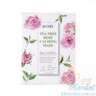 Успокаивающая маска для лица с экстрактом чайного дерева и розы PETITFEE Tea Tree Rose Calming Mask 25g