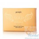 Гидрогелевая маска для шеи с плацентой PETITFEE Hydrogel Angel Wings Gold Neck Pack 10g - 5 шт
