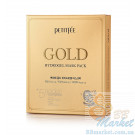 Гидрогелевая маска для лица с золотым комплексом +5 PETITFEE Gold Hydrogel Mask Pack +5 golden complex - 5шт
